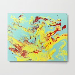 Splashing Down Metal Print
