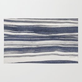 Brush stroke stripes Rug