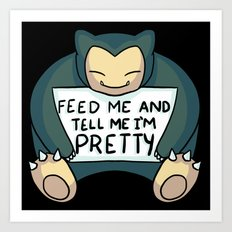 Feed Me Snrlx Art Print