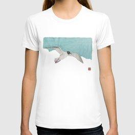 Seagull, Sky, Beach, Coastal T-shirt