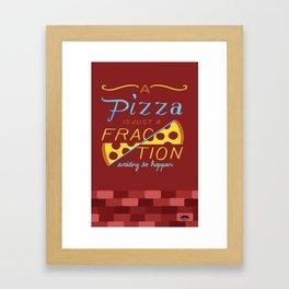 Fractional Pizza Framed Art Print