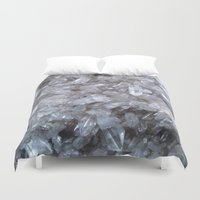 crystal Duvet Covers featuring Crystal by Danielle Fedorshik