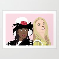 clueless Art Prints featuring clueless by Britt Whitaker Design
