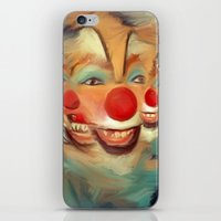 clown iPhone & iPod Skins featuring clown by robotrake