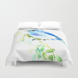 Mountain Bluebird homde decor Duvet Cover