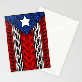 Puerto Rican Tribal Flag - Modern Boricua Stationery Cards