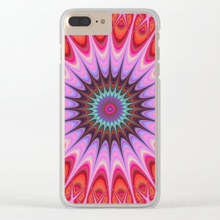 Quadrant mandala Clear iPhone Case
