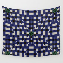 Shatter Gingham (Blue) Wall Tapestry