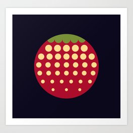 strawberry || russian black Art Print