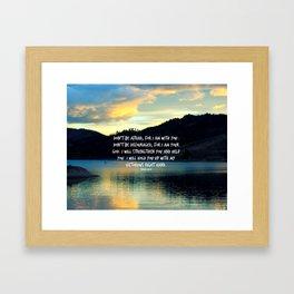 Do Not Be Afraid Framed Art Print