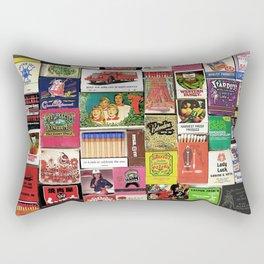 Antique Matchbooks Rectangular Pillow