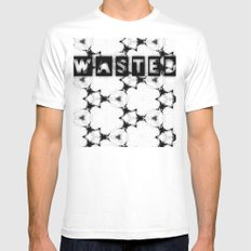 WASTEDTIME MEDIUM White Mens Fitted Tee