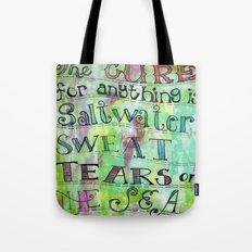 saltwater cure Tote Bag