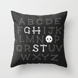 Somethin' strange in your alphabet Throw Pillow