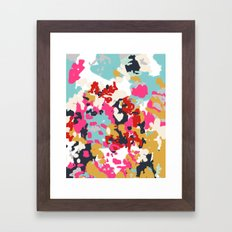Inez - Modern Abstract painting in bold colors for trendy modern feminine gifts ideas  Framed Art Print