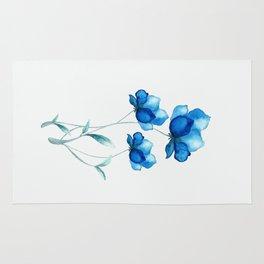 Blue Flowers 2 Rug