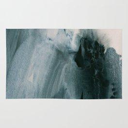 greyish brush strokes Rug