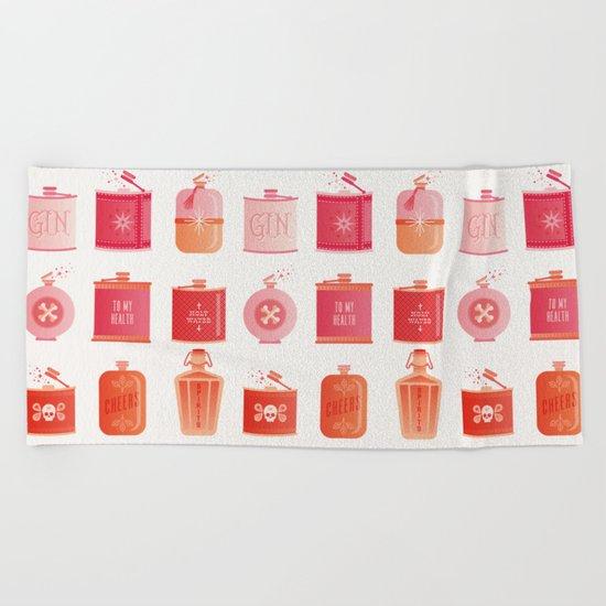 Flask Collection – Pink/Peach Ombré Palette Beach Towel
