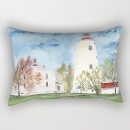 Sandy Hook Lighthouse Rectangular Pillow