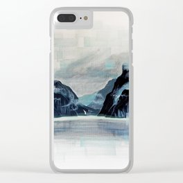Rectangles - Perspective of Milford Sound Clear iPhone Case