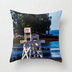 Life guard off duty - enjoy the beach Throw Pillow