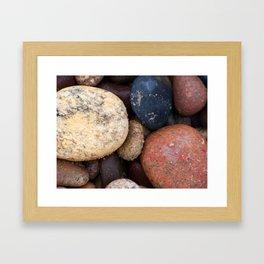Lake Superior Beach Stones Framed Art Print