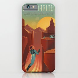 Travel Poster Valles Mariners (2015) iPhone Case
