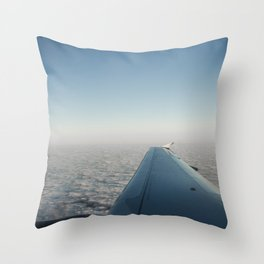 Wing in the clouds Throw Pillow
