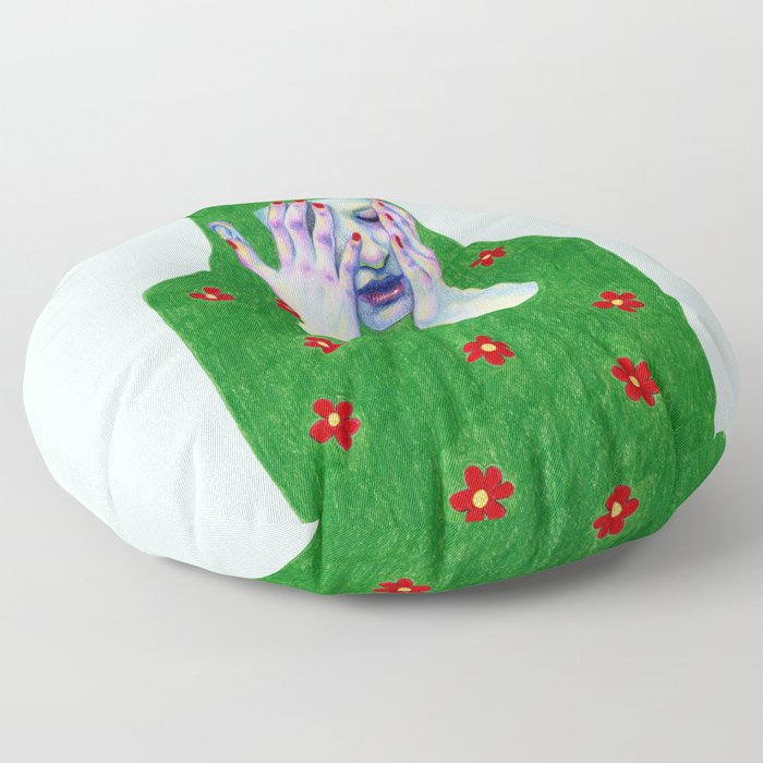 Sad Spring Floor Pillow