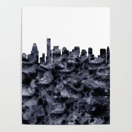 Boston Skyline Massachusetts Poster
