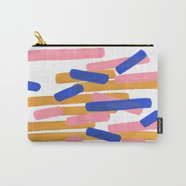 Colorful Minimalist Mid Century Modern Shapes Pink Ultramarine Blue Yellow Ochre Confetti Carry-All Pouch