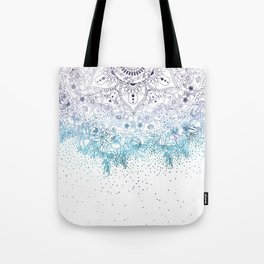 Elegant floral mandala and confetti image Tote Bag