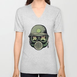 War Skull Unisex V-Neck