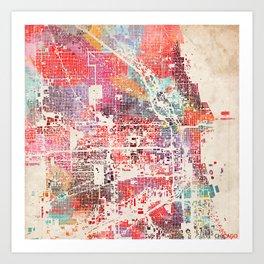 Chicago map Kunstdrucke