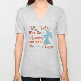 My Wife is an Angel Unisex V-Neck