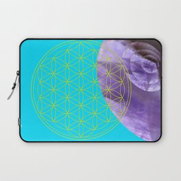 Mystical Flower of Life Amethyst #society6 Laptop Sleeve