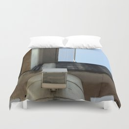 Cityscape Looking Up Duvet Cover