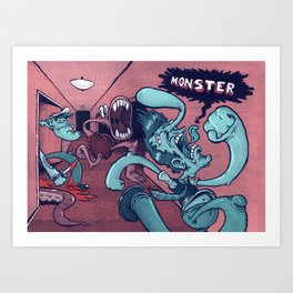Monster in the Hall Art Print