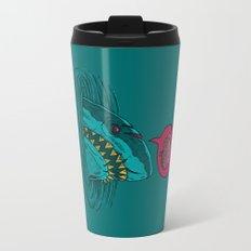 The Zombie Shark Travel Mug