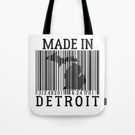 MADE IN DETROIT Bar Code Tote Bag