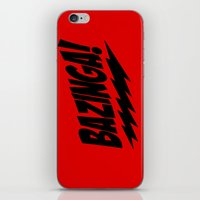 bazinga iPhone & iPod Skins featuring bazinga by  Alexia Miles photography
