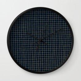 Threads of gold on dark blue Wall Clock
