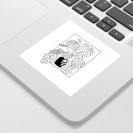 Magic Monstera Sticker