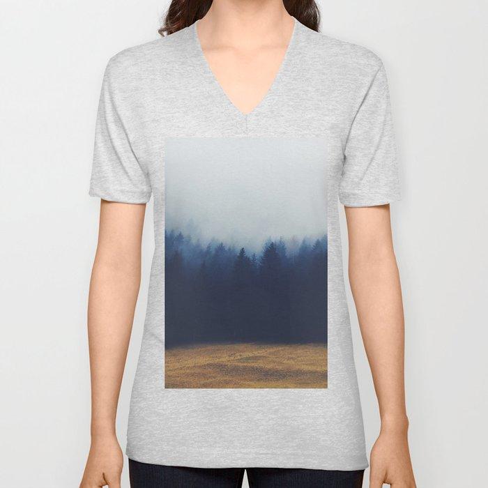 Misty Forest  2 Unisex V-Neck