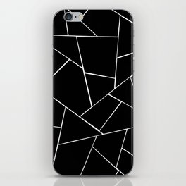 Black White Geometric Glam #2 #geo #decor #art #society6 iPhone Skin