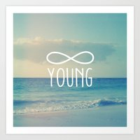 forever young Art Prints featuring Forever Young by hyakume