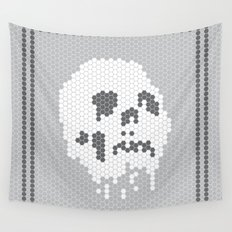Skull Tile Wall Tapestry