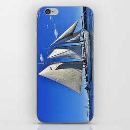 Sailboat and Bug Light in Casco Bay, Maine iPhone Skin