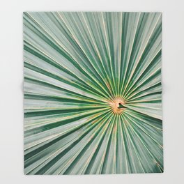 Palm up close | Botanical finea art photography print | Shades of green Throw Blanket