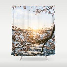 Sun Over the Horizon Shower Curtain